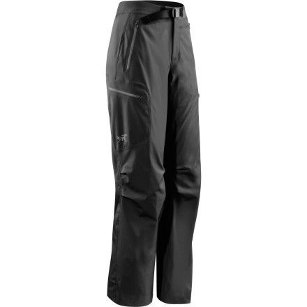 Ski The Arc'teryx Women's Gamma LT Softshell Pants stand up to tough seasons of ice climbing, high-altitude hikes, backpacking, and guiding'and a lady-friendly fit, comfy stretch, and articulated knees make 'em feel great the whole time. When Arc'T calls these pantalones ultralight, they're not joking. Weighing in at just a few hundred grams, these suckers stretch, breathe, and defend you from the elements at very little weight cost. A gusseted crotch lets you mantle the top of an ice pitch, laminated cuffs with cord closures won't snag on snowshoes or crampons, and thigh pockets with laminated zippers hold your peanut butter cookies. - $168.95
