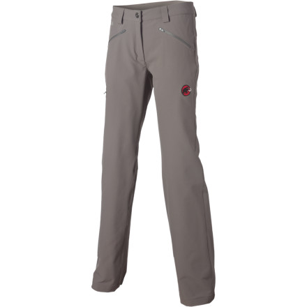 Camp and Hike Ditch those ancient cotton hiking pants, because in case you haven't heard, softshell is the way to go. The stretchy, comfortable Mammut Women's Miara Softshell Pant delivers much higher performance than your Old Faithfuls, and looks super-stylish while it's at it. The pant's SOFtech softshell fabric gives you breathable protection from wind and light precipitation, and resists abrasion from encounters with pack straps or rock faces, too. - $158.95