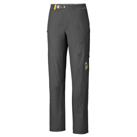 Climbing Climbing season is all year round when you have the Mountain Hardwear Women's Chockstone Softshell Pant. This cold-weather, abrasion-resistant pant with water-repellent finish enables you to get after it when everyone else has retired their climbing gear for the chilly months. - $124.95