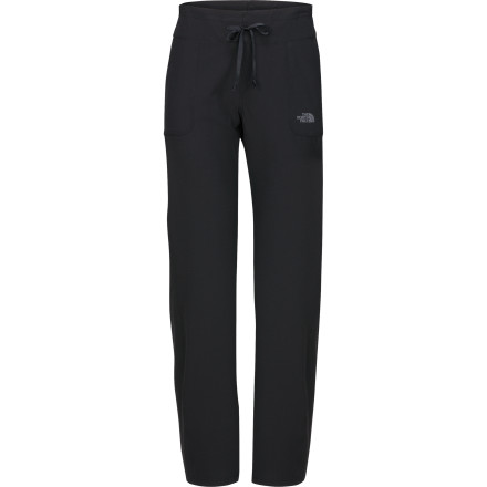 Camp and Hike Make The North Face Women's Out The Door Softshell Pant your three-season adventure companion. Whether you're anticipating windy weather on your spring hike or some sprinkles on your fall run, this versatile pant offers protection from the weather while providing stretchy, breathable comfort. In the winter, layer some tights under the pant for warmth and protection on chilly early-morning dog walks or for an afternoon snowshoe. - $43.97