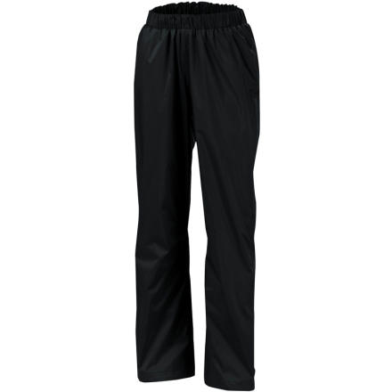 Skip the forecast check and throw the Columbia Women's Storm Surge Pant in your backpack. You'll stay bone dry in even the heaviest downpours thanks to this pant's Omni-Tech waterproof breathable fabric, and the light, streamlined design won't weigh you down if the skies stay sunny. - $39.96