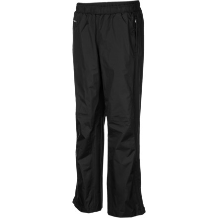 Mountain weather is highly variable, so play it safe and throw The North Face Women's Venture Pant in your backpack before you head out to the trail. The 2.5-layer waterproof breathable HyVent EC technology and fully taped seams keep your bottom half dry when a thunderstorm rolls in from over the ridge. The Venture pant stows neatly in its own pocket and only weighs 7.8 ounces, so you have no excuse to leave it in the car. - $79.95