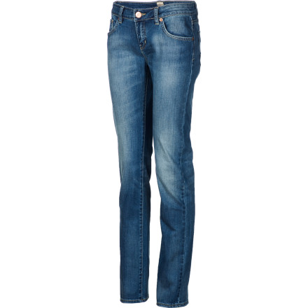 Surf Scootch into the Rip Curl Women's Pipes Retro Denim Pant, grab your backpack, and race out the door before you're way late for class. - $44.73