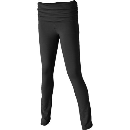 Fitness The Patagonia Women's Wellspring Tights offer an updated take on the classic yoga pants. A wider waistband smooths and flatters your curves, and the straight leg gives you a streamlined shape. Wear these chic tights to your yoga class or when you feel like cuddling up in comfy style. - $39.50