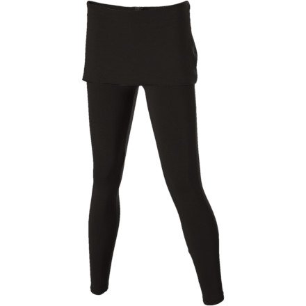 Fitness The Women's Satori Legging suits your desire for figure-friendly style and meets prAna's requirements for a piece to be as functional as it is fashionable. This tunic style pant features short skirt detail that looks as good into town for a late morning coffee and the fresh produce for the night's supper after a rigorous session at the studio. - $41.22