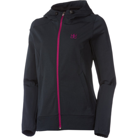 Cut off winter's chill with sharp sense of style in the Blurr Women's Backcountry Breaker Softshell Jacket. Made of comfortable four-way stretch fabric and treated with a DWR coating for moisture resistance, this do-it-all softshell boasts more than a bit of style with a silver front logo and back left hip label. A concealed hemline drawcord keeps out the cold and helps you find the most comfortable fit, while a jersey-lined hood keeps your noggin out of the cold. - $41.99