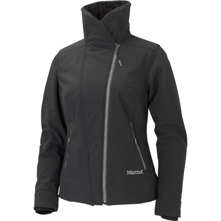 If you're looking for a warm, water-resistant softshell for trekking in the mid-winter chill, slide into the Marmot Christy Softshell Jacket. - $155.97
