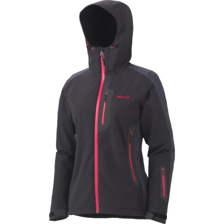 Marmot built the Women's Reyna Softshell Jacket to accommodate a multitude of environments during aerobic mountain adventures. This form-flattering design is part of Marmot's M2 series, indicating an ideal blend of weather resistance and breathability. In addition to the rough-weather functionality you'd expect from a more limiting hardshell, the Reyna features Angel-Wing Movement to prevent riding up during acrobatic moves on your ice or mixed project. - $151.22
