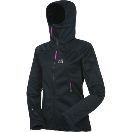Entertainment Born to shield and insulate, the Millet Women's Thunderstorm Softshell Jacket is your double-duty ticket to all-day play in extreme cold. WindStopper Highloft insulation keeps your warmth sealed in while totally windproof, water-repellent, and breathable three-layer WindStopper Soft Shell protects you against gales and light snow. An ergonomic fit and adjustable hem and cuffs round this baby out for performance more than the sum of its parts. - $147.92