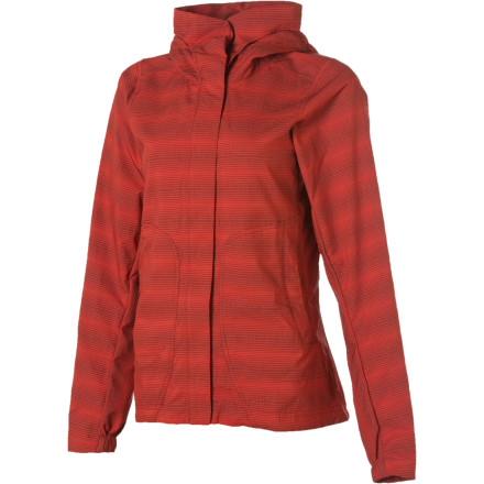 The NAU Women's Lightbeam Hooded Softshell Jacket might look like a sassy, urban-inspired jacket, but it also packs enough weather-ready tech to keep you feeling good when the storms come in. Whether you're in Manhattan or Aspen, this jacket is great for shopping, going out to dinner, or just taking a walk to get out of the house. - $92.48