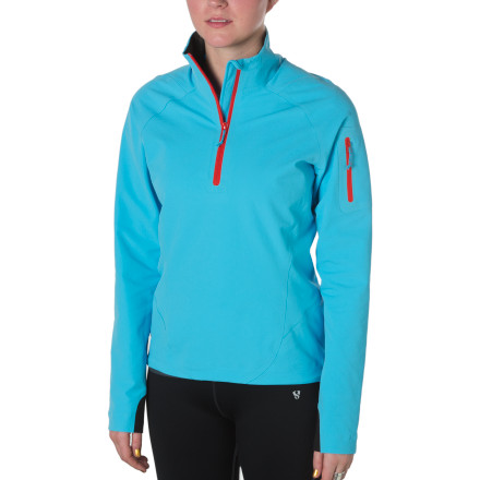 Fitness A brisk run through the brilliant fall foliage may warm your nature-loving spirit, but you'll need the Stoic Women's Microlith Softshell Pullover to take care of your physical being. The lightweight softshell fends off a slight chill during fall hikes or sunny spring tours while achieving incredible breathability to expel sweat as you move through the backcountry. - $69.50