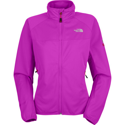 Laugh in the face of the stiffest gale when you're zipped into The North Face Women's Cipher Jacket. This innovative Summit Series softshell features the GORE Windstopper fabric, which completely blocks chilling wind and repels rain, yet offers the comfort of a breathable fleece midlayer. The North Face built in side panels of the super-stretchy Apex Aerobic fabric the give you the mobility you need to meet any athletic challenge. - $74.47