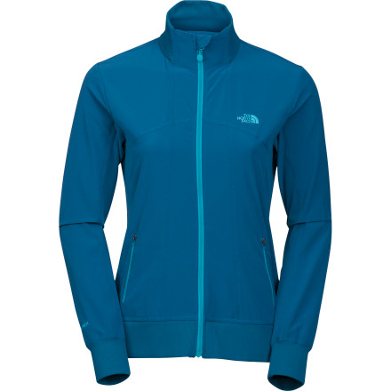C'mon, it's not that bad outsideput away that gym pass, put on The North Face Women's Out The Door Softshell Jacket, and get some fresh air along with your workout. TNF made this jacket with the lighweight Apex Aerobic softshell fabric that stretches and breathes for maxiumum comfort while you're moving, and it also offers protection from chilling winds at the same time. A DWR finish repels light precipitation, too. And if you opt for the indoor workout anyway, the jacket's flattering princess seams and stylish rib-knit collar, hem, and cuffs will ensure you look good coming and going. - $47.37