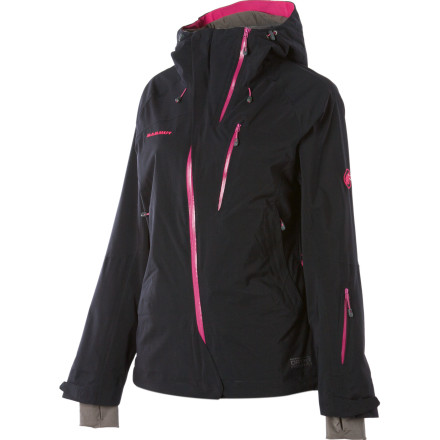 Ski Mammut designed the Women's Spirit Jacket for alpine enthusiasts who aren't willing to compromise their desire for quality any more than they're willing to compromise their love of powder days. A tough nylon shell and two-layer Dry Tech stretch laminate give the Spirit the feel of a softshell and the durability of an expedition-worthy outer layer. - $286.27
