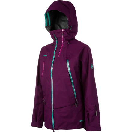 Ski Whether the day is sunny or dark and stormy, the Mammut Women's Sunridge Jacket provides the weather protection your upper half needs. The 3-layer Gore-Tex Soft Shell has a soft face so you don't feel like you're wearing a trash bag, and it provides guaranteed waterproof and breathable protection. The two-way underarm zips boost ventilation on warm days, and the women-specific powder skirt keeps the fluff out when you're making fresh tracks. - $419.27