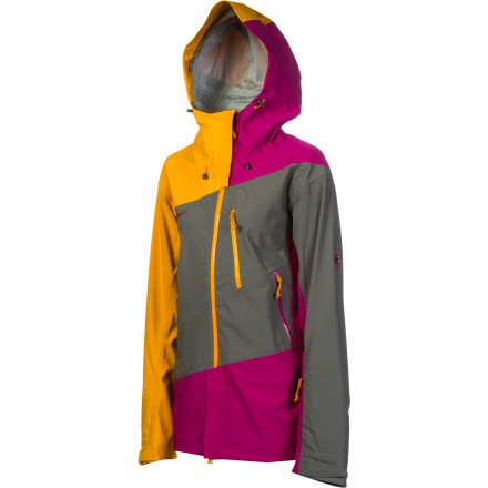 Ski With its bright three-color design, the Mammut Women's Shana Jacket stands out in the lift line and offers ample protection for whatever old man winter throws your way. The 3-layer DryTech Premium shell fabric stands up to wet winter conditions and the women-specific powder skirt snugly seals around your hips when making fresh tracks is the order of the day. Mammut's 150 Peaks anniversary design uses diagonal seams to reflect the structure of a climbing rope. - $324.32