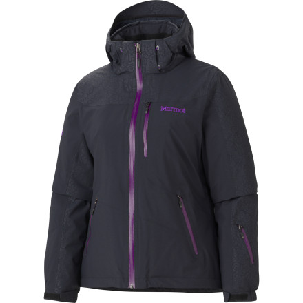 Ski When you're arcing perfect sets of turns down fresh groomers, zip up the Marmot Women's Arcs Jacket to ensure you look every bit as good as the picture-perfect tracks left in your wake. Thermal R insulation keeps precious body heat in while the waterproof MemBrain shell fabric keeps snow and wet conditions out. This jacket even has a unique embossed pattern for a distinctly feminine look. - $179.97