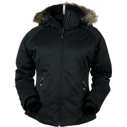 Ski When you lay down those sweet, smooth turns, complement your on-hill style with the equally elegant Obermeyer Women's Tuscany Jacket. Cool, curvy design in a slim silhouette and a faux-fur-trimmed hood say it's not just your skiing that's beautiful, but your look, too. And this jacket is sophisticated in performance, too, with protection from the weather, insulation, and a snow-denying powder skirt. - $174.61