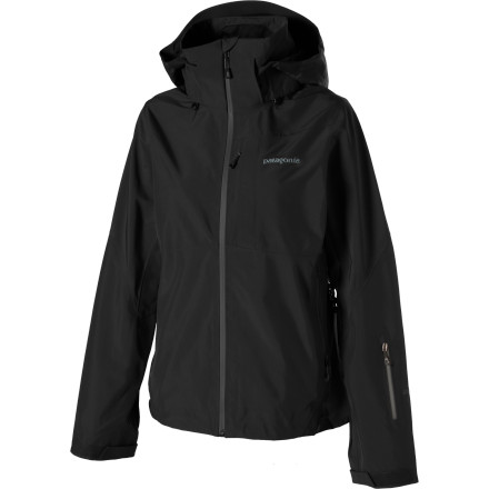 Ski Let the Gore-Tex Patagonia Womens Powder Bowl Jacket comfort you when the alarm goes off long before the sun comes up. This waterproof breathable ski shell gives you full weather protection on early dawn patrols and lift-accessed skiing alike. Patagonia sandwiched a waterproof breathable Gore-Tex layer between a recycled polyester shell and a mesh lining, so you stay dry and comfortable, no matter the conditions or terrain. A variety of pockets hold your ski pass, camera, and goggles. When the suns blazin, zip off the adjustable hood and open up the pit-zips for max air flow. When youve beaten the jacket to tatters, send it back to Patagonias Common Threads Recycling Program. - $279.30