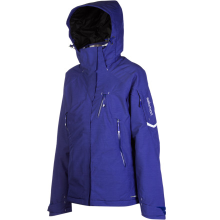 Ski Salomon has a deep line of freeskiing jackets, but none are warmer than the Women's Inside Jacket. One-hundred-gram Primaloft insulation gives you an insurance policy against the cold and 20K-rated shell fabric keeps you dry amid wet, high-precipitation storm days. You'll find all the features you would expect from a technical jacket, plus a textured face fabric that sets off the look in a truly unique way. - $279.96