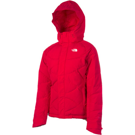 Ski Every day will feel like Christmas in The North Face Women's Helicity Down Jacket. Because you've wanted this for a long time, crazy-warm down topped with waterproof, breathable Gore-Tex. In your mind, it's the ultimate defense when riding on bitter cold days, cozy when worn with a light layer, and the perfect jacket for ringing cow bells on the side of the slope. And with a fine-fitting hood, adjustable hem, smartly placed pockets, and RECCO safety, it's everything you wished for, and more. - $244.27