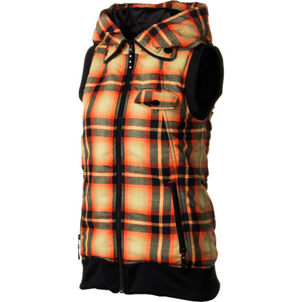 Ski Wear the Burton Starr Vest next to your skin or as a mid-layer. Either way, it stays warm and looks great all day on the slope and then at the bar for apres-ski. The fulltime snorkel hood definitely stands out in the crowd, and the retro ribbed arms and hem add timeless style. - $44.97