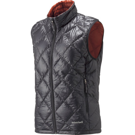Camp and Hike What keeps you warmer, a t-shirt or the MontBell Women's Ultralight Down Vest' If you guessed the former, remind us not to plan a winter camping trip with you. If you picked the latter, you are correct; and yet this super-warm vest doesn't occupy any more space in your pack, or weigh any more, than your average tee. Stuffed with ultralight goose down, this vest not only turns up the heat under your shell, but does an admirable job of blocking wind and rain when worn on its own. - $118.95