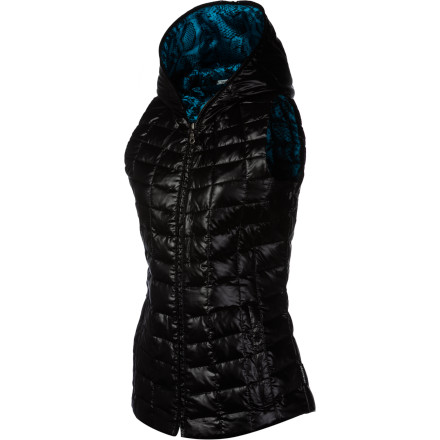 A vest is best, and one filled with down is even better. The super-sleek and sheen-y Obermeyer Women's Kassi Down Vest repels water, wind, and the frigid cold. An ample hood extends that protection for your pretty head, and its shaped seams give you a feminine fit. Layer it under a shell for all-day pow-slashing, or go it alone for on-the-town cozy comfort and sporty style. - $83.62