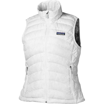 Patagonia insulated the Women's Down Sweater Vest with lofty 800-fill down to keep your core incredibly warm without stifling you in bulky insulation. In fact, this versatile Patagonia vest weighs a mere 204 grams. The DWR-coated 22D polyester shell helps keep the weight down while it fights off light rain on a drizzly day. You can also compress the Down Sweater Vest to an incredibly small size, so it'll fit in your pack any day. - $150.00