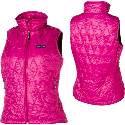 Climbing Yes, the Patagonia Women's Nano Puff Vest weighs almost nothing. But the difference it makes in your comfort level is noticeable to say the least. It's windproof, insulated with warm PrimaLoft insulation, and glides smoothly under your outer layers. You never knew that a 204-gram piece could boost your core warmth this much, but it can, and you'll want to stuff it into a little cranny of your backpack on every ski day, autumn climb, and chilly spring morning snowshoe. - $149.00
