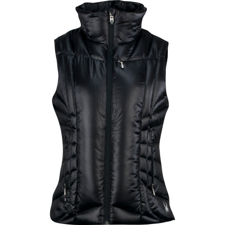 When it's cold out but you want freedom-of-arms, pull on the Spyder Women's Timeless Down Vest. Its 700-fill down insulation insulates your core whether you layer a long-sleeve shirt underneath on a fall night or a softshell underneath on a winter walk through the woods. - $111.27