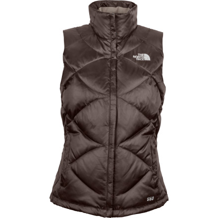 Whether you're wearing it under a shell on the top of the Sundeck or over a sweater while you check out the shops around Aspen, the Women's Aconcagua Down Vest keeps the cold out. A satin finish gives the vest a soft feel and a classic look while the goose down keeps you cozy and warm. - $69.27
