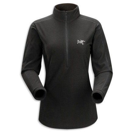 Ski The Arc'teryx Women's Delta LT Zip Pullover provides mid-layer warmth and makes an ideal wear-alone piece or a base layer under your jacket. Mountain ladies love the smooth feel of Polartec Classic Micro Velour fabric, which offers an exceptionally high warmth-to-weight ratio. Arc\342\200\231teryx made this fabric highly compressible, which is great because you\342\200\231ll want to pack it with you everywhere. Gusseted underarms prevent the fleece from riding up when you reach for your next cam placement or lean into a ski turn. The Women\342\200\231s Delta LT Zip Pullover also offers a trim, sleek fit, which: a) fits marvelously under outer layers, and b) doesn\342\200\231t look like a grizzled man-garment. - $98.95
