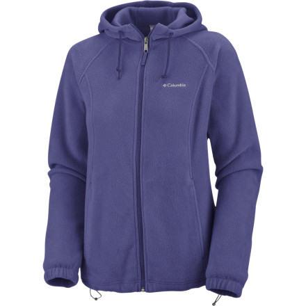 Camp and Hike A foggy early morning dog walk, a hike on a brisk sunny day, a quick before-dinner run to the grocery storethe Columbia Women's Benton Springs Hooded Fleece Jacket is with you every step of the way. Soft, lightweight, and warm, this MTR fleece hoody features an interior drawcord, elastic cuffs, and a cozy hood to keep the chill at bay. Zip pockets securely hold your keys when you leave the car and head out on foot for some fun. - $25.97