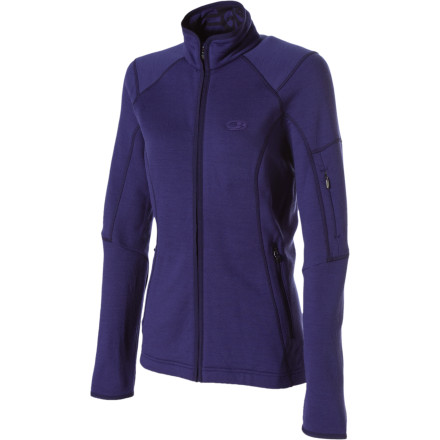 It's so cold that your eyelids feel like they are freezing shut. When the thermometer drops zip up in the Icebreaker Women's RealFleece 260 Cascade Fleece Jacket. Soft, wicking merino RealFleece keeps you toasty and warm, and the athletic cut and dropped tail are ready for action. - $125.97