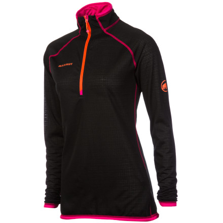 Before a long day of winter weather activities, start off on the right foot with the Women's Mammut Schneefeld 1/2-Zip Light Fleece Pullover. The Polartec Power Dry fleece with flat-lock seams makes an ideal base layer that easily slides beneath outwear while keeping you warm, dry, and comfortable. Plus, the deep front zipper provides some additional ventilation during high-exertion activities. - $94.22