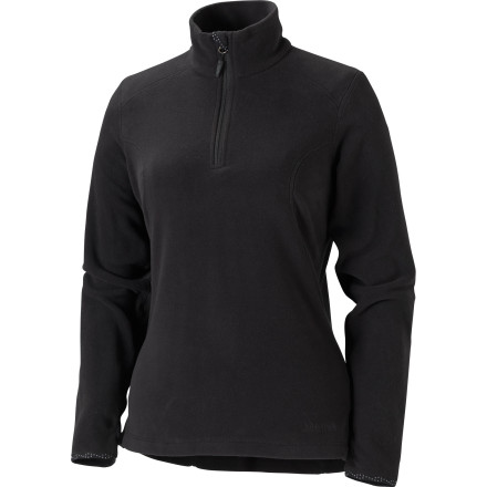 Camp and Hike When a long-sleeve tee just won't cut it, put on the Marmot Women's Flashpoint Half Zip Pullover Fleece. Made with cozy Polartec fabric with flatlock construction and integrated thumb holes, you'll be more than comfortable on your morning walk to the coffee shop or quick hike after work. It's eight-inch center front zip also helps dump excess heat when you find yourself hiking up something steep or when playing with your dog. - $22.49