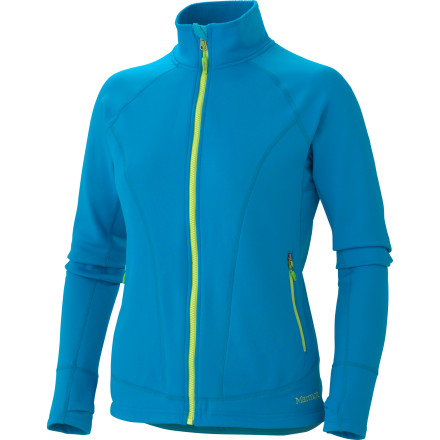 Camp and Hike The snow clouds may threaten from the north, but you zip up the Marmot Women's Ella Fleece Jacket and pay your favorite mountain trail one last visit before it succumbs to winter's onslaught. Thanks to the stretchy, breathable, and durable nylon, you can wear the Ella during all of your shoulder-season climbing, hiking, camping, mountain biking, and even spring touring. The jacket's midweight fabric with a brushed back traps heat efficiently for the last days of fall hiking or the first days of spring skiing. - $54.98