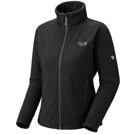 Ski The Mountain Hardwear Women's Deflection Fleece Jacket deters breezes on your fall backpacking adventures, and this sleek jacket slides under your weatherproof shell when winter rolls around and the ski-slopes start calling. - $43.49