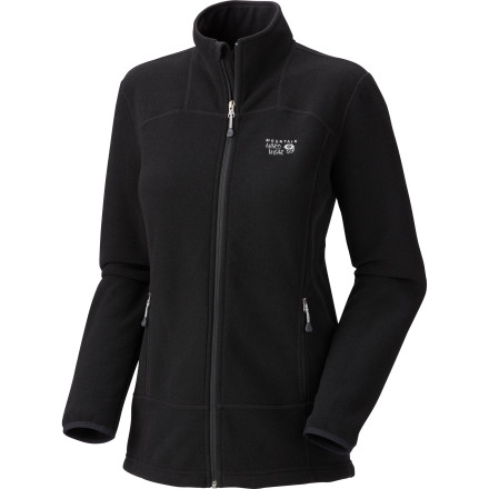 The Mountain Hardwear Women's Toasty Tweed Fleece Jacket brings quality construction to a simple, straightforward design. This breathable zip-up fleece will keep you warm when the temperature starts to drop. Plus, it slides easily under a waterproof shell to protect you from the cold while you're on the mountain. - $87.72