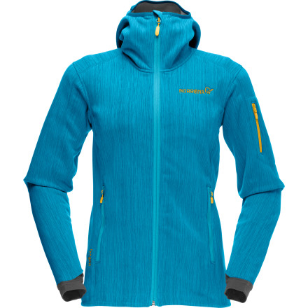 Norrna delivers its most weather-protective fleece jacket with the Women's Lyngen Warm2flex Fleece Jacket. This jacket shields you from the bitter wind, provides protection from lightly falling snow, and works great alone on warm bluebird resort days or as a mid-layer piece in sub-zero temps. - $273.90