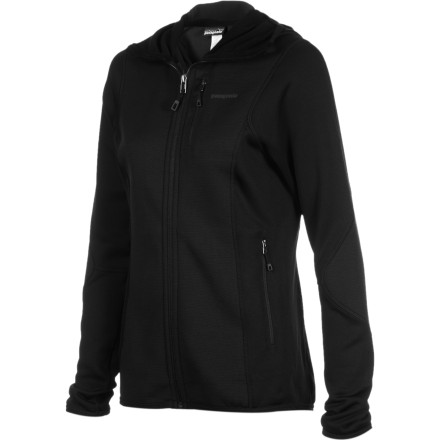 Patagonia reinforced the stretchy Women's Piton Hybrid Fleece Hooded Jacket with Polartec Wind Pro to make it burlier than your average fleece. Warm and wicking as a midlayer, the Piton also stands up to the elements when you wear it on its own during alpine approaches. - $98.45