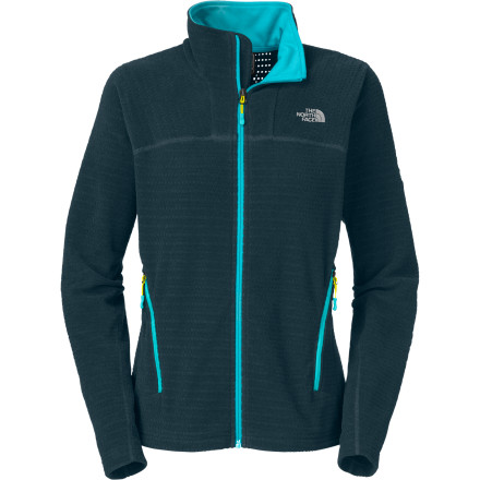 Golf The North Face Women's Jasmin Fleece Jacket is outfitted with sleek and versatile Polartec Thermal Pro fleece to keep you cozy while you hike, backpack, or get one last game of disc golf in before the first blanket of snow falls. - $93.47