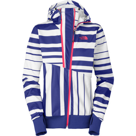 Ski The North Face Women's Thatch Hooded Full-Zip Jacket is an all-around winter champ that will keep you toasty while you enjoy a post-run beer on the ski lodge patio. High-tech fabric is soft on the inside and offers a bit of weather protection on the outside so you can wear this hoodie by itself for shoulder-season skiing when the weather is nice. This jacket can also serve as a cozy midlayer when the conditions are more intense. - $60.47