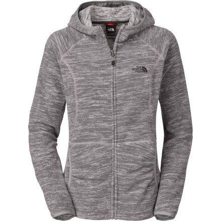 Unlike many other fashion-oriented fleece jackets, The North Face Women's TKA Masonic Stria Hooded Fleece Jacket features premium Polartec fleece that makes it a technical fleece jacket, too. The arresting striped fabric not only looks good, but it also performs as well as or better than its plainer, more 'functional' cousins, offering notable warmth for such a lightweight, low-bulk sweater. - $55.97