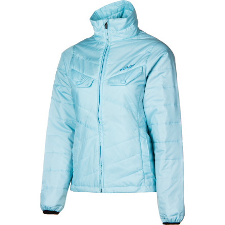 That faded, nearly see-through fleece with the burn holes in it' Ditch that rag, and level-up with the modern midlayer FlyLow Women's Piper Jacket. It will keep you warm with micropuff synthetic down insulation, plus it will fend off bad weather with water-resistant DWR. Underarm vents and waterproof zippers elevate this high-tech, low-profile fleece replacement, so it's presentable on its own as well as with a shell. - $87.97