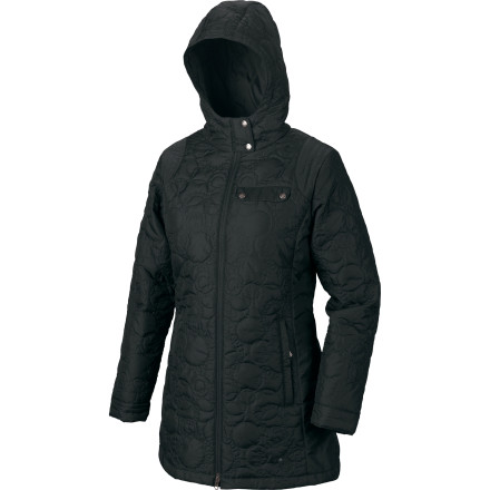 Ditch your puffy jacket during mild winter weather and instead don the Isis Women's Alpenglow Coat. This stylish insulated coat is just the thing to wear when you head out to the martini bar with your friends or romantic interest. Its feminine cut, top-stitch collar, and smooth taffeta fabric makes you feel like a million bucks while you stroll down the snow-covered sidewalks. A DWR finish helps protect you from the light snow or sleet, while multiple internal and external pockets stash your keys and cell. - $47.69