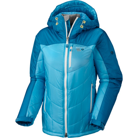 Climbing You never got into scouting but you know the value of being prepared, which is why you bring along the Mountain Hardwear Women's B'Lady Insulated Jacket on your trips to the crag. You may be warm when you finish your climb, but after an hour on belay, you're glad you have this warm, ultra-breathable jacket to keep you from cooling off more than is comfortable. And you're especially glad for the AirShield Elite paneling on this insulator when a drizzle starts falling during descent to the car. - $149.98