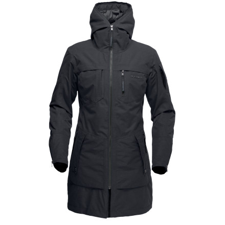 It's rare to see something that blends style and function like the Norrna Women's /29 Gore-Tex Insulated Parka. The sleek yet roomy cut and zip-up hood give this parka a runway-ready look, while high-tech fabrics will have you prepared if the runway happens to be in an arctic blizzard. - $422.90