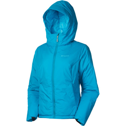 Camp and Hike The Patagonia Women's Micro Puff Hooded Jacket embodies the combination of style and reliability that you've come to expect from your favorite eco-conscious outdoor brand. Lightweight, highly compressible PrimaLoft One insulation keeps you warm and safe from the incoming cold front, while a shell of recycled polyester helps reduce this jacket's carbon footprint. Wear it solo around camp and enjoy the feminine fit enabled by quilted side panels, or use it as an insulating layer under a storm shell when you're watching the clouds thicken and the mercury on the thermometer drop. - $122.85
